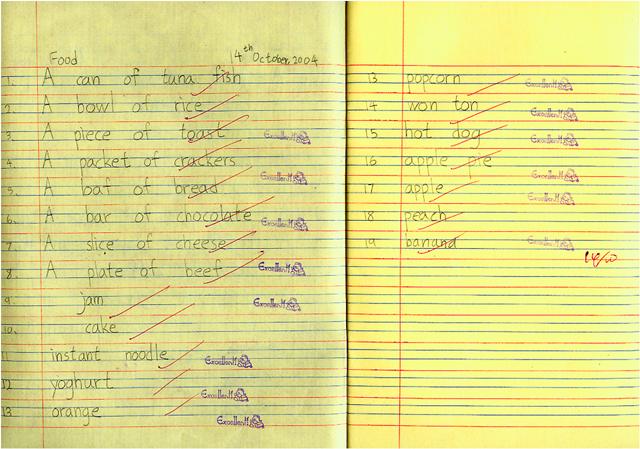 四至六年级—用拼音和语法知识来听写,核对段落